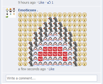 Emoticons for Facebook comments